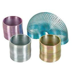 1 METAL SLINKY NEW IN BOX ASSORTED COLORS BLUE PURPLE SILVER