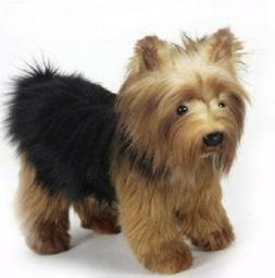 10 Inch Handcrafted Yorkshire Terrier Dog Plush Stuffed Anim