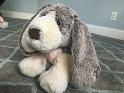 """AURORA 11"""" VELVETY SOFT BROWN WHITE DROOPY-EARED DOG NEW"""