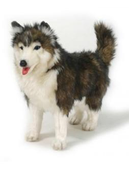 14 Inch Handcrafted Standing Husky Dog Plush Stuffed Animal