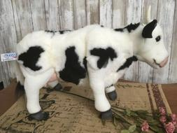 16 Inch Handcrafted Standing Cow Plush Stuffed Animal by Han