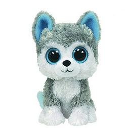 1pc18cm Hot Sale Ty Beanie Boos Big Eyes Husky Dog Plush Toy