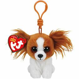 2017 Ty Beanie Baby BARKS the Dog Key Clip Size NWT's - IN H
