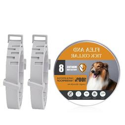 2pcs Flea and Tick Collar for Dogs With Adjustable Waterproo