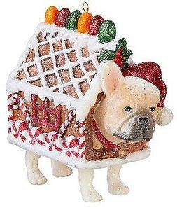 """3.75"""" BARKERY DOG ORNAMENT Polyresin PUG GINGERBREAD Sweets"""