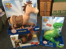 "3 New Toy Story 4 Figures- 11"" Posable Rex, Soft & Huggabl"