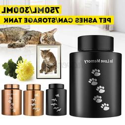 300g/750g Stainless steel Cat Dog Pet Cremation Urn Ash Can