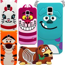 3D Cartoon Character Silicone Rubber Case Cover For Samsung