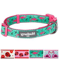 Blueberry Pet 4 Patterns Pink Flamingo on Light Emerald Dog