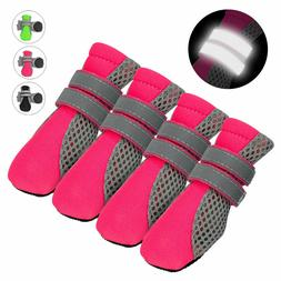 4pcs Dog Shoes Small Large Mesh Boots Booties for Snow Rain