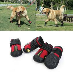 4pcs pet shoes anti skid dog boots
