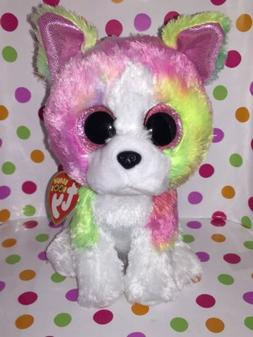 """6"""" Reg Size Ty Beanie Boo Isla the Dog Claire's Exclusive"""