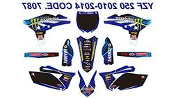 7087 YAMAHA YZ250F 2010-2013 10-13 DECALS STICKERS GRAPHICS