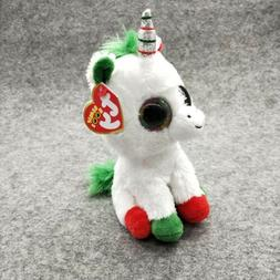"CandyCane Ty Beanie Boos 6"" Stuffed Plush Kid Toy Animal Sof"
