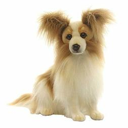 "Hansa Beige Papillion Dog 16""  Plush Toy Stuffed Animal Hand"