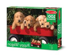 Melissa & Doug Puppy Dogs in a Wagon Jigsaw Puzzle