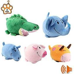 Petbemo Squeaky Dog Toys Puppy Toy Funny Animal Sets Pet Che