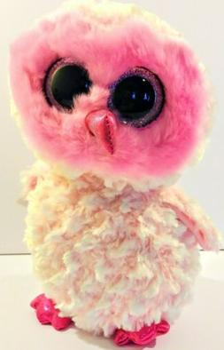 TY Beanie Boos Baby Twiggy Pink Owl Stuffed Animal Plush Big