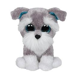 Ty Beanie Boos Whiskers The Grey Schnauzer Dog Plush