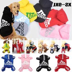 Winter Casual Adidog Pets Dog Clothes Warm Hoodie Coat Jacke