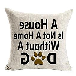 Aitena A House is Not a Home Without a Dog Decorative Square