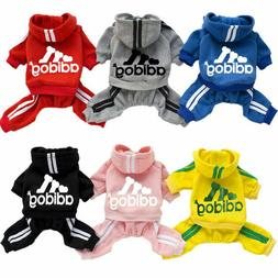 Adidog Dog Hoodie 4 Legs Jumpsuit Puppy Hoodies Coat Sweatsh