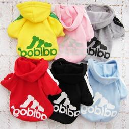 Adidog Small Dogs Puppy Apparel Hoodie Sweater T Shirt Jumps