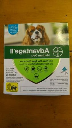 Bayer Advantage II for Medium Dogs 11-20 Lbs - 4 Pack -  FLE