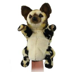 African Wild Dog Puppet Hansa Realistic Animal Plush Toy 40c