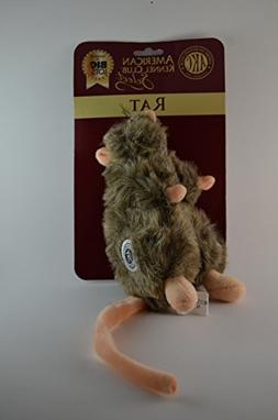 American Kennel Club Select AKC Plush Stuffed Rat with Squea