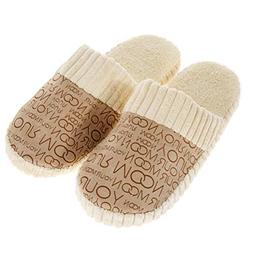 ASO-SLING Women's Winter Warm Plush Slippers Soft Cotton-Pad