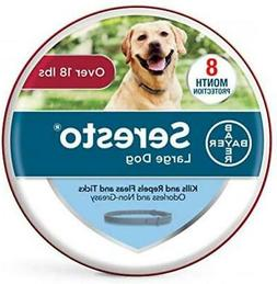 Bayer Animal Health Seresto Flea and Tick Collar for Dogs, 8