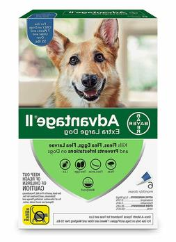 Bayer Advantage II for Extra Large Dogs Over 55 lbs - 6 Pack