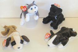 TY  Beanie Babies Dogs - 4 - New!