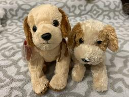 TY Beanie Baby Dogs: BANJO & BADGES - New w/ Mint Tags!