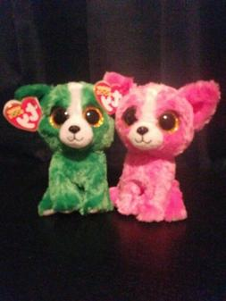TY Beanie Boo Pashun  & Dill  Chihuahua Dogs Show Exclusive