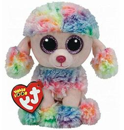 "Ty Beanie Boos 6"" RAINBOW Poddle Dog Plush Stuffed Animal To"
