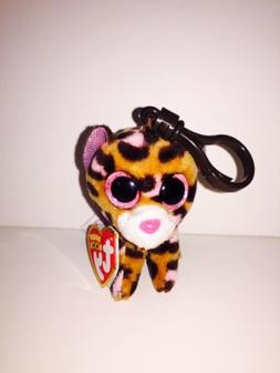 Ty Beanie Boos Patches the Leopard Clip Keychain