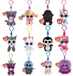 "Ty Beanie Clip 3--5"" Babie Baby Keychain Plush Backpack! Sto"