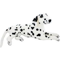 JESONN Realistic Stuffed Animals Dog Dalmatian Plush Toys,18