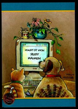 BIRTHDAY Cat & Dog Computer Mouse - Humorous - By Gary Patte