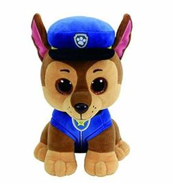 "Blue Cap Dog 6"" Ty Beanie Boos Puppy Glitter Big Eyes Plush"