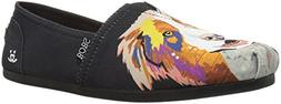 Skechers BOBS Women's BOBS Plush-Breeds Ballet Flat Black -