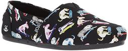 BOBS from Skechers Women's Bobs Plush-Wag Town Flat, Black/M