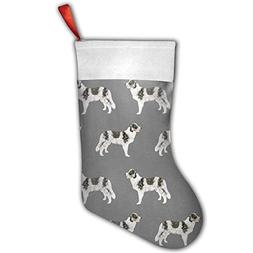 Sea turtle Border Collie Blue Merle Dogs Christmas Stocking,