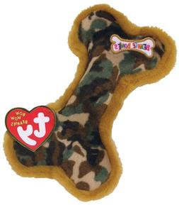 Ty Bow Wow Beanies ~ LIL/' CAMOUFLAGE BONE Crinkle//Squeak Toy ~NEW w// MINT TAGS