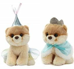 Gund Bundle of 2 Itty Bitty Boo Stuffed Plush Dogs Prince Bo