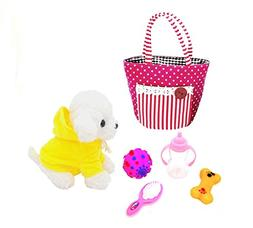 Care for Me Learning Carrier Toy, Pet Care Play toy Set 6 Pi