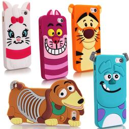 Cartoon Character 3D Silicone Case Rubber Cover For Apple iP