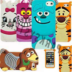 Cartoon Silicone Rubber 3D Case For Apple iPhone 4/4S 5/5S S